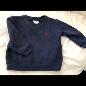 Ralph Lauren boys sweatshirt in navy blue.
